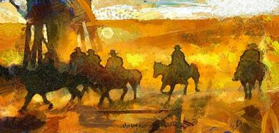 Digital Art - Cowboys Love To Ride by Carrie OBrien Sibley