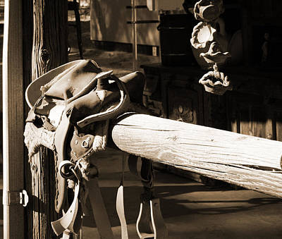 Photograph - Cowboy's Saddle by Sharon McLain