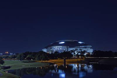 Cowboys Stadium Game Night 1 Art Print