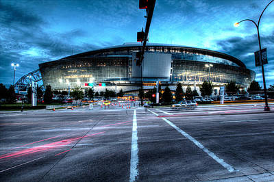 Football Royalty-Free and Rights-Managed Images - Cowboys Stadium pregame by Jonathan Davison