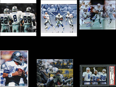 Cowboys Triple Threat  Autographed Reprint Print by James Nance