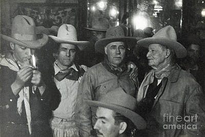 Photograph - Cowboys W Pipe 1935 by Patricia  Tierney