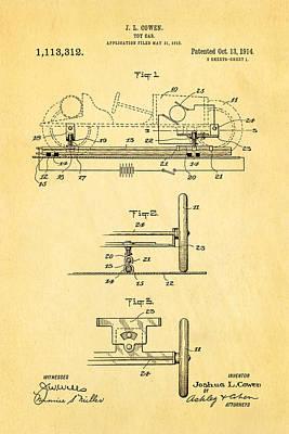 Model Car Photograph - Cowen Toy Car Patent Art 1913 by Ian Monk