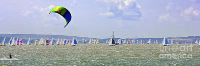 Waves Photograph - Cowes Week Isle Of Wight by Terri Waters