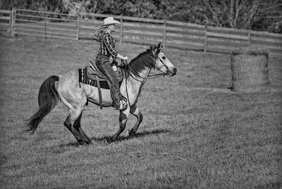 Equestrian Clothes Photograph - Cowgirl At Heart Bw by Susan Candelario