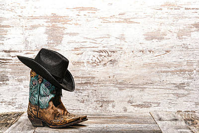 Cowgirl Boots Print by Olivier Le Queinec