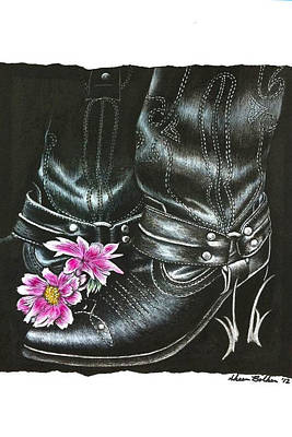 Cowgirl Boots Art Print by Sheena Pape