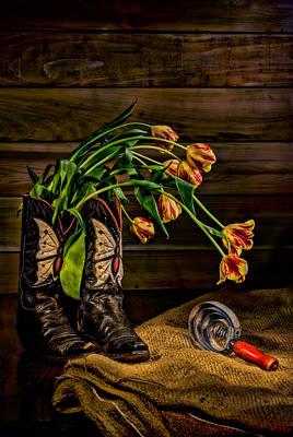 Cowgirl Bouquet Art Print by Leah McDaniel