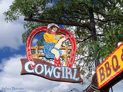 Art Print featuring the photograph Cowgirl Cafe by Sylvia Thornton