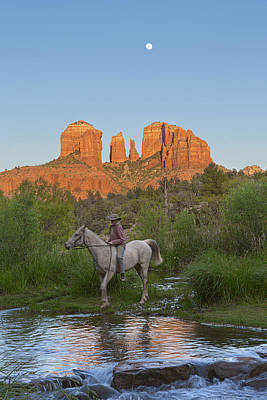 Cowgirl Crossing Art Print by Brian Knott - Forget Me Knott Photography
