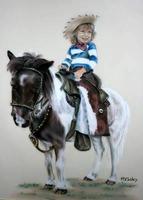 Cowgirl Dee Art Print by Dee Mccluskey