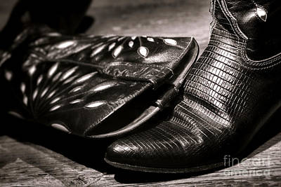 Alligator Wall Art - Photograph - Cowgirl Gator Boots by Olivier Le Queinec
