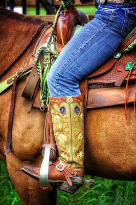 Photograph - Cowgirl by Greg Mimbs