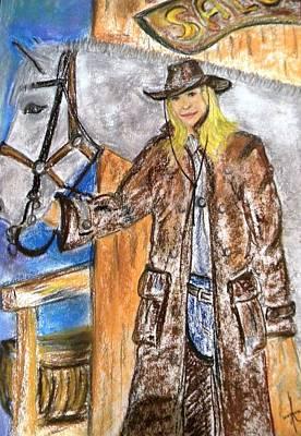 Cowgirl Art Print by Igor Kotnik