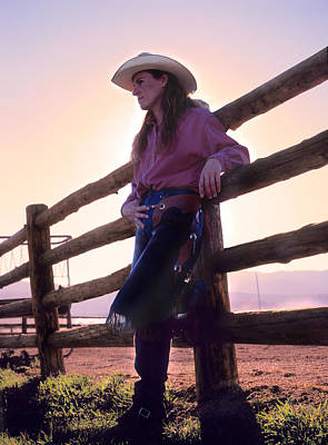 Photograph - Cowgirl by Leland D Howard