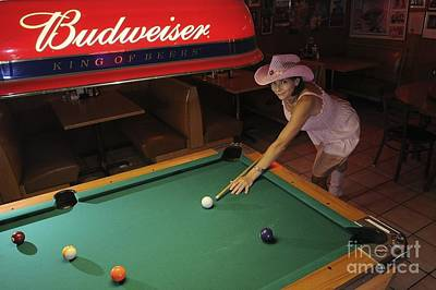 Photograph - Cowgirl Pool Game  by Sherry Davis