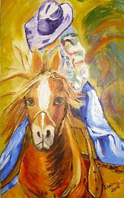 Painting - Cowgirl by Shelley Bain