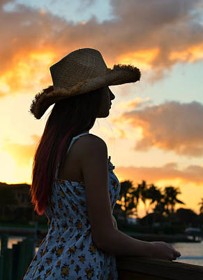 Living Colour Photograph - Cowgirl Sunset by Laura Fasulo