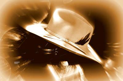 Cowgirls And Harley Art Print by Karen Kersey