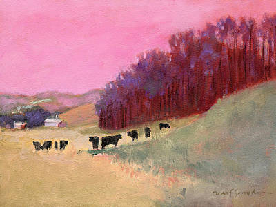 Cows 3 Art Print by J Reifsnyder