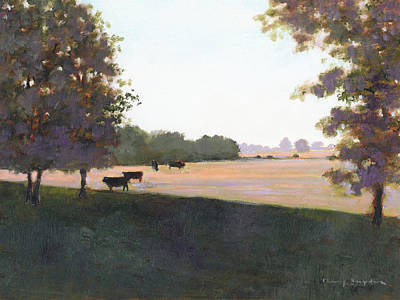 Painting - Cows 5 by J Reifsnyder