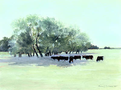 Cows 7 Art Print by J Reifsnyder