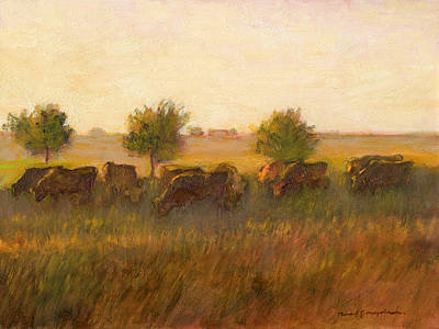 Painting - Cows1 by J Reifsnyder