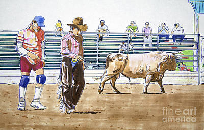 Rodeo Clown Painting - Cowtown Clown by Chuck Hayden