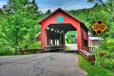 Photograph - Cox Brook Bridge by John Nielsen