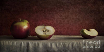 Red And Green Photograph - Cox Orange Apples by Priska Wettstein