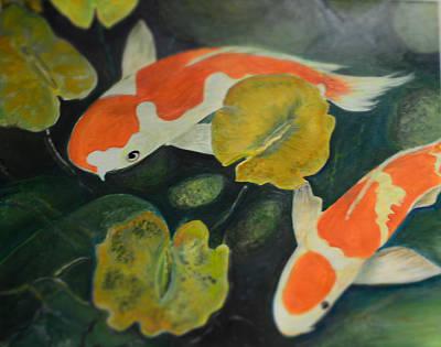 Coy Fish Art Print by Karen Norberg