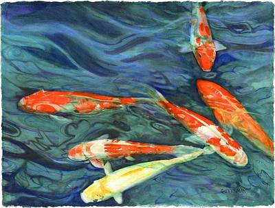 Painting - Coy Koi by Rebecca Gottesman