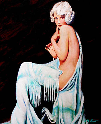 Semi-nude Painting - Coy by Michael Durst
