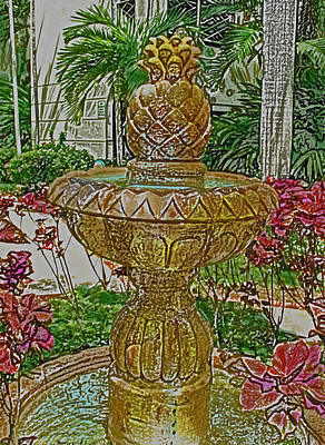 Fine Dining - Coyaba Fountain by Ian  MacDonald