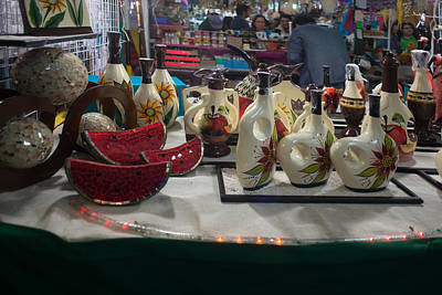 Mexicano Digital Art - Coyoacanense Artist Market by Carol Ailles