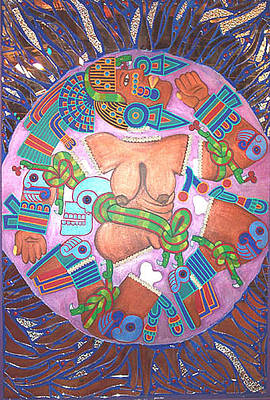 Coyolxauhqui Art Print by Jane Madrigal