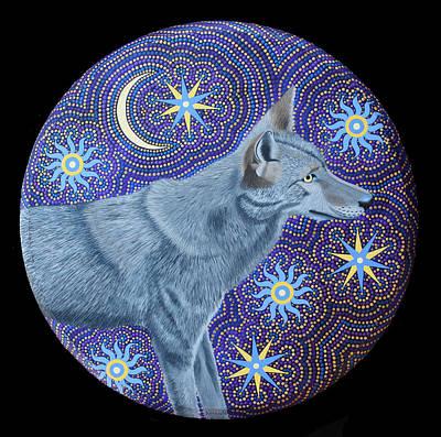 Painting - Coyote by Amanda  Lynne