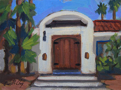 Residence Painting - Coyote Crossing Gate by Diane McClary