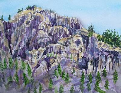 Coyote Mountain Art Print by Lynne Haines