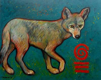 Painting - Coyote Of The Symbol by Carol Suzanne Niebuhr
