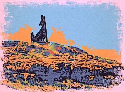 Photograph - Coyote On Rocky Top by Phyllis Kaltenbach