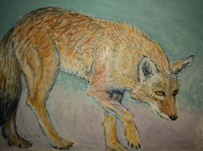 Painting - Coyote On The Prowl by Sandra Lytch