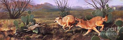 Coyote Run Art Print by Rob Corsetti