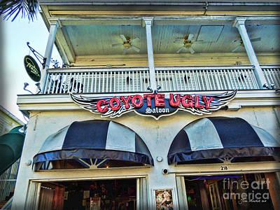 Coyote Ugly Key West Art Print by Joan  Minchak