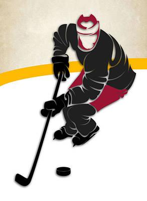 Coyotes Hockey Rink Art Print
