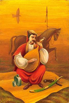 Cossack Mamay Art Print by Oleg Zavarzin