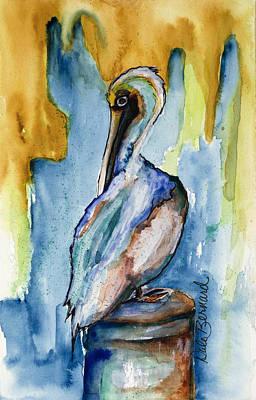 Painting - Cozumel Pelican  by Dale Bernard
