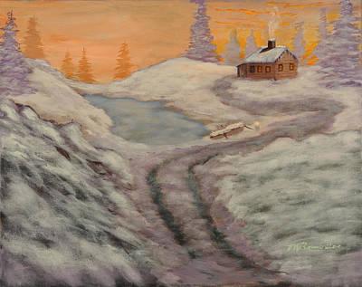 Cozy Cabin Print by Michael Brumbeloe
