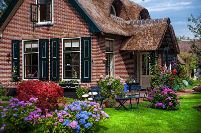 Photograph - Cozy Corner. Giethoorn. Netherlands by Jenny Rainbow