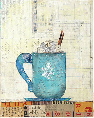 Holiday Painting - Cozy Cups I by Courtney Prahl
